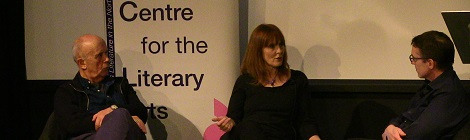 Poldark Debbie Horsfield in discussion with John Yorke and Peter Reynolds
