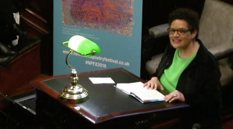 Jackie Kay reading at the launch of the 2018 Newcastle Poetry Festival