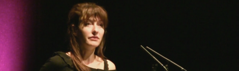 Emily Critchley reading at Newcastle Poetry Festival 2018