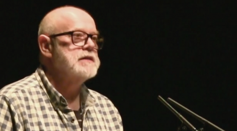 Ian Duhig reading at Newcastle Poetry Festival 2018