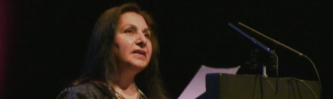 Imtiaz Dharker reading at Newcastle Poetry Festival 2018