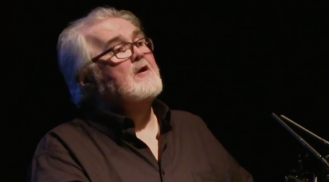 Sean O'Brien reading at Newcastle Poetry Festival 2018